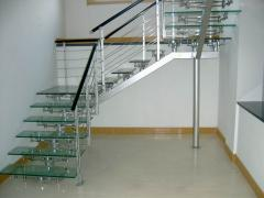 Beautiful glass stairs