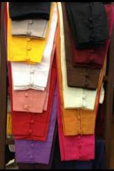 Button cotton cig pants by Sofarahino at wholesale rate