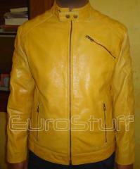 The Brand new yellow luxury buffalo leather jacket