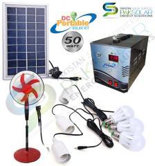 50W Portable DC Solar Kit System