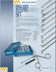 Willmedic Small Joint Arthroscopy Surgical Instruments Medical Tools Set Kit