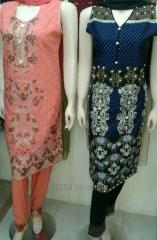 Ladies embroidered casual 3pc dresses at wholesale rate by Sofarahino