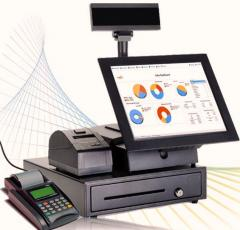 CPTPOS, all-in-one Point of sales desktop system with hardware- for your branded retail outlets,