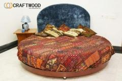 Round Quilted Bed