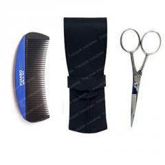 Beard grooming kit set  scissors , comb , case