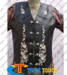 Waistcoat leather Trachten