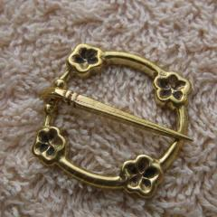 Viking buckle replica 1250-1400 Brooch with flower