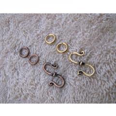 Clasp S hook Brass