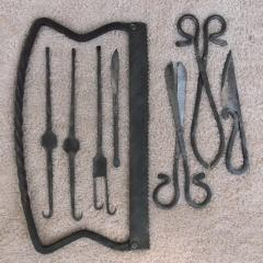 Medieval Cuttlery Iron hand forged