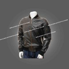 Varsity Style Leather Fashion Jacket