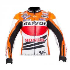 Racing Repsol R1 Leather Motorcycle Jacket Valentino Rossi Race