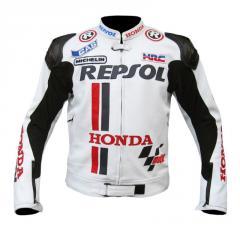 Racing R41 Leather Motorcycle Jacket