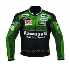 Racing Kawasaki K1 Leather Motorcycle Jacket