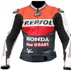 Racing D3 Leather Motorcycle Jacket