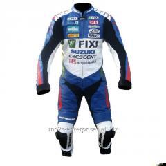 Motorcycle leather suit for Professional Biker Suzuki FIXI