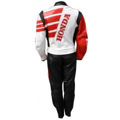 Motorcycle leather suit for Professional Biker Honda Racing