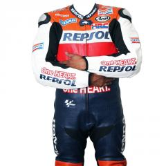 Motorcycle leather suit for Professional Biker Repsol