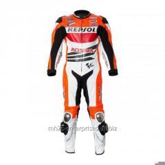 Repsol Biker leather racing suit cowhide
