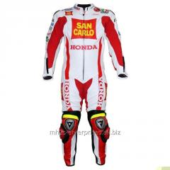 Honda Bike Racing leather suit with protections