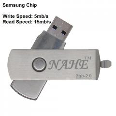 2gb Metal Twister USB Flash Drive