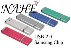2gb Rectangular USB Flash Drive with Metal Body