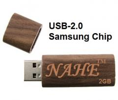 2gb Wooden Rectangular USB Flash Drive