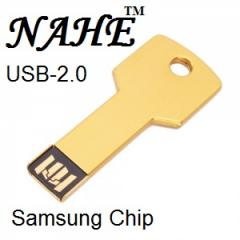 2gb Wooden Key Shape USB Flash Drive