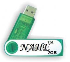 2gb PP Green Swivel USB Flash Drive