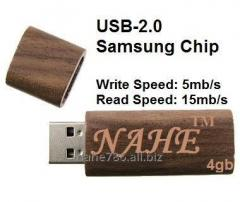 4gb Wooden Rectangular Shape USB