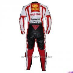 Carlo Honda Marco Simoncelli Race Professional Biker leather racing suit