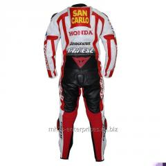 San Carlo Honda Race Professional Biker leather racing suit Marco Simoncelli