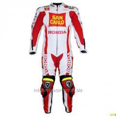 Marco Simoncelli Race Professional Biker leather racing suit  Honda