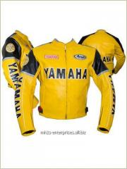 Racing Stellar Yamaha Motorcycle Leather Jacket Racing