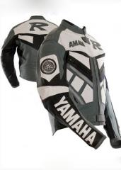 Racing Kawasaki custom designed Leather Motorcycle Jacket Racing