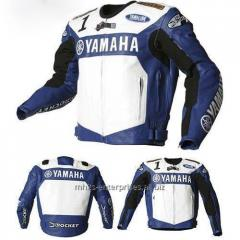 Racing Blue Yamaha Leather Motorcycle Jacket