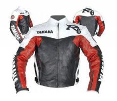 Racing Customized Leather Motorcycle Jacket Genuine design