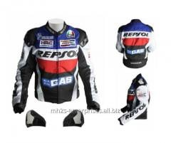 Professional Biker leather racing Jacket High quality cowhide 100%