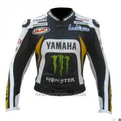 Racing D Leather Motorcycle Jacket