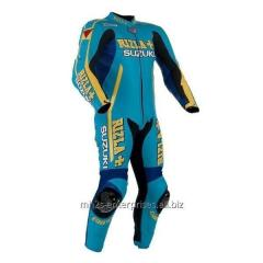 Motorcycle leather suit for Professional Racing Biker Suzuki FIXI