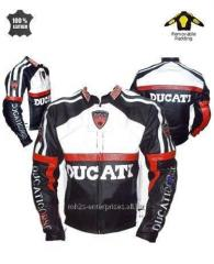 Design Motorbike racing Jacket genuine leather Ducati