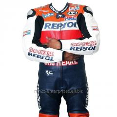 Motorbike Racing leather suit for Professional Biker Repsol