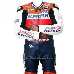Motorbike Racing leather suit for Professional Biker Repsol