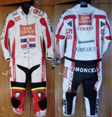 Professional Biker leather racing suit for
