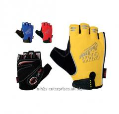 Custom cool sublimation road cycling gloves/synthetic leather biker gloves