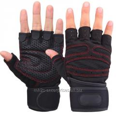 Leather Workout Gloves /Quality Fitness,Men gym Leather fitness gloves