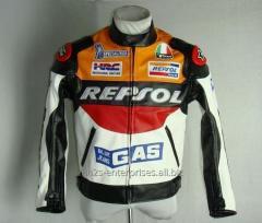 Motorbike wears custom Leather Jacket Raptors-Motorcycle-Textile-Jacket