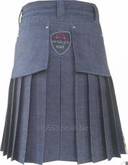 Scottish Deluxe Active Men Utility Sports Traditional Fashion Blue Denim Kilt