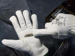 Alif® Cut Pro Goat Grain Leather Driver Style ANSI A4 Cut Resistant Gloves.
