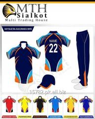 Buy online Custom made, sublimated cricket team uniforms, Club kits