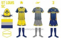 Buy sports Soccer/football Mesh Jersey uniform kit